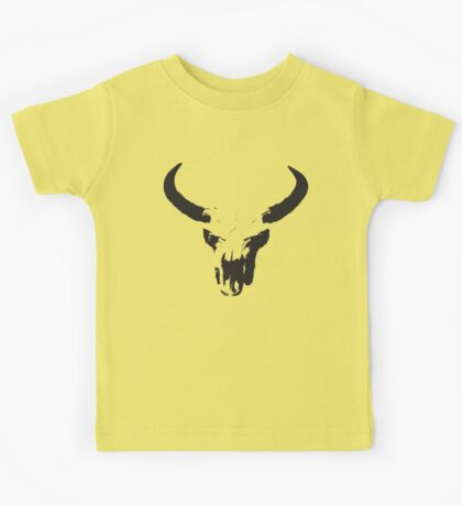 Faded cow skull Kids Tee