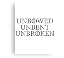 HOUSE MOTTO 3 Canvas Print