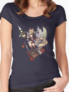 Skull Kitty Women's Fitted Scoop T-Shirt