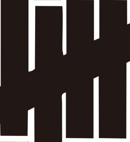 undefeated brown Sticker