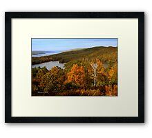 An Autumn View of the Quabbin Framed Print