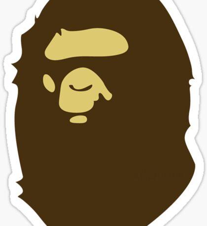 BAPE brown Sticker