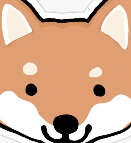 Cute Shiba Inu Face(s) Sticker