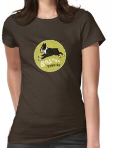 Vintage Style Boston Terrier Womens Fitted T-Shirt
