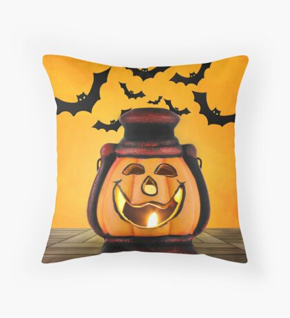 Pumpkin lantern Throw Pillow