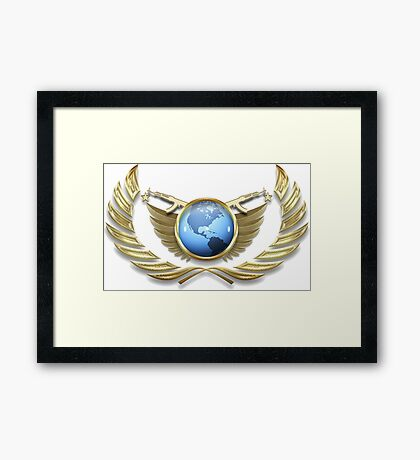 CS:GO Global Elite Rank Framed Print