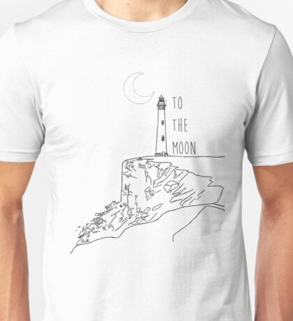 To The Moon Lighthouse Unisex T-Shirt