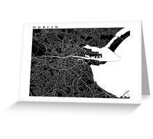 Dublin Map (Black) Greeting Card
