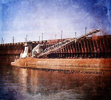 Vintage Great Lakes Freighter by Phil Perkins