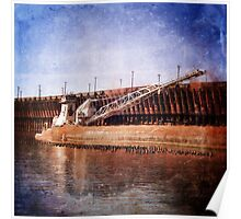 Vintage Great Lakes Freighter Poster