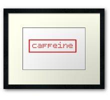 Caffeine Graphic Framed Print