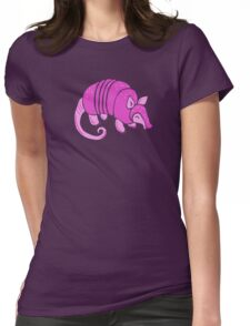 Pink Armadillo Womens Fitted T-Shirt