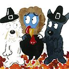 Tommy & 'Archy are looking forward to Thanksgiving' by archyscottie