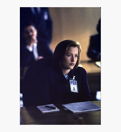 Dana Scully in show 2 Photographic Print