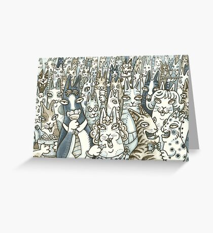 HISS N FITZ CATS   Lifes A Party! Greeting Card