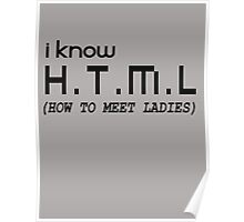 I KNOW HTML, HOW TO MEET LADIES Poster