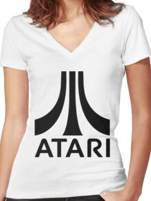 ATARI Classic Game Women's Fitted V-Neck T-Shirt