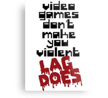 Video Games Lag Metal Print