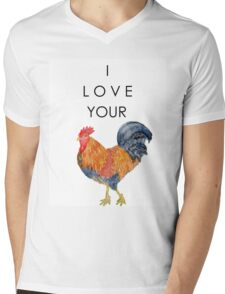 I Love Your Cock Painting Mens V-Neck T-Shirt