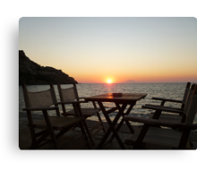 Sit down and enjoy the sunset! Canvas Print