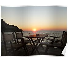 Sit down and enjoy the sunset! Poster
