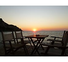 Sit down and enjoy the sunset! Photographic Print
