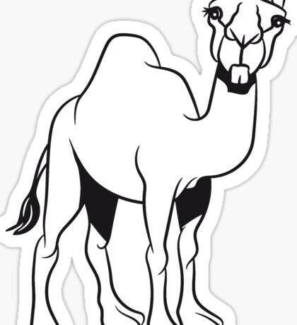 Kamel lustig doof  Sticker
