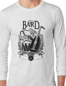 RPG Class Series: Bard - Black Version Long Sleeve T-Shirt