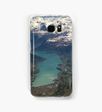 Lake Thun: North Face of the Eiger, Moench and Jungfrau Samsung Galaxy Case/Skin