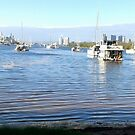 Boats in the Inlet Gold Coast by MardiGCalero