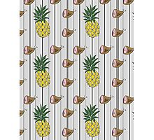 Ham & Pineapple Pinstripe Photographic Print