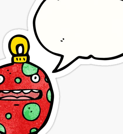 crazy christmas bauble cartoon character Sticker