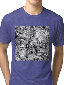 a mysterious black and white life Tri-blend T-Shirt