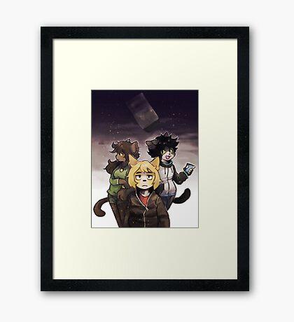 dramatic poster Framed Print