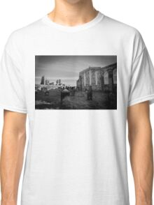 Whitby Abbey and cemetery during the night in North Yorkshire,UK. Classic T-Shirt