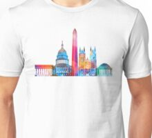 Washington DC landmarks watercolor poster Unisex T-Shirt