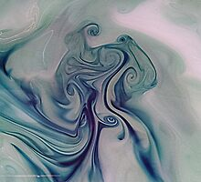 paint and ink in water #10 by Melanie Graham