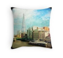 The Shard and The Thames - London Throw Pillow