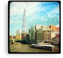 The Shard and The Thames - London Canvas Print
