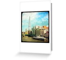 The Shard and The Thames - London Greeting Card