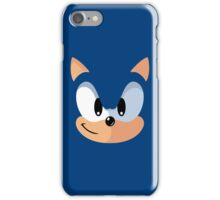 Sonic the Hedgehog Blue Face Video Game Parody Vintage Inspired Graphic iPhone Case/Skin
