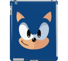 Sonic the Hedgehog Blue Face Video Game Parody Vintage Inspired Graphic iPad Case/Skin