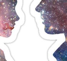 Han and Leia - Galaxy Sticker