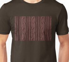 Brown plait jersey cloth texture Unisex T-Shirt