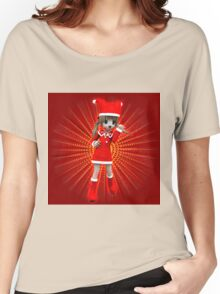Girl in Christmas dress Women's Relaxed Fit T-Shirt