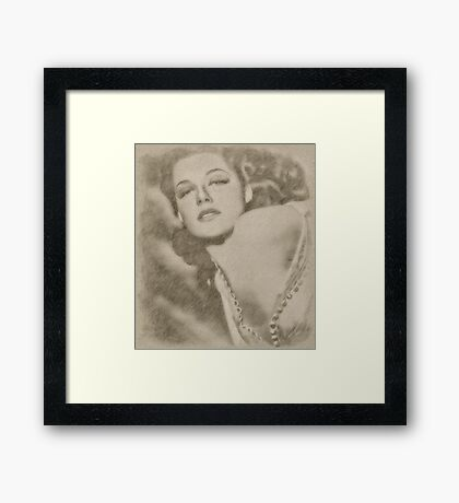 Ann Sheridan Hollywood Actress Framed Print
