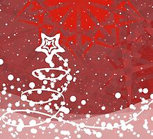 Abstract Christmas background by AnnArtshock