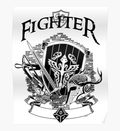 RPG Class Series: Fighter - Black Version Poster