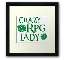 CRAZY RPG Lady Framed Print