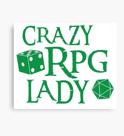 CRAZY RPG Lady Canvas Print